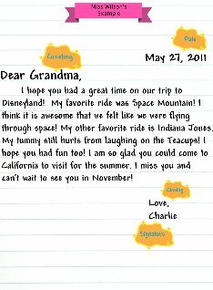 Friendly Letter Miss Wilson's Example: text, images, music, video ...