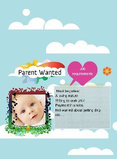 Parenting Poster: text, images, music, video   Glogster EDU ...